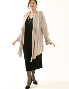 Scarf Jacket Champagne Slither (Plus-Size)