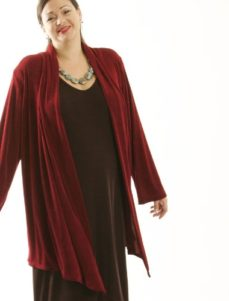 Scarf Jacket Merlot Slither (Plus-Size)