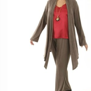 Scarf Jacket Taupe Slither (Plus-Size)