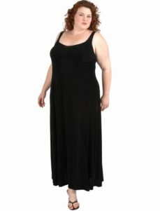 Slip Dress Black Slither  (Plus-Size)
