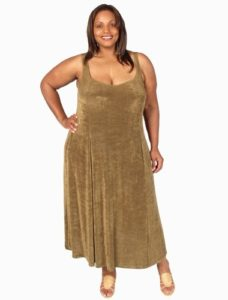 Slip Dress Bronze Slither (Plus-Size)
