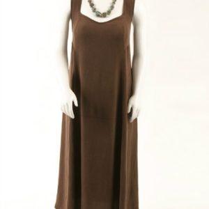 Plus Size Slip Dress Chocolate Snakeskin Sandwashed Rayon 14-36