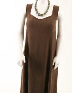 Slip Dress Chocolate Snakeskin Rayon (Plus-Size)