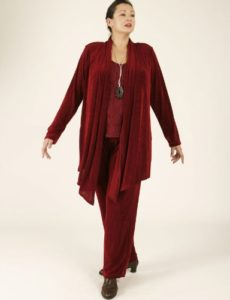 Straight  Leg Pants Merlot Slither (Plus-Size)