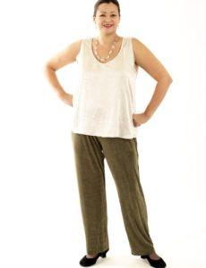 Straight Leg Pants Olive Slither (Plus-Size)