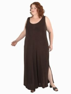 Tank Dress in Your Choice of Slither Colors (Plus-Size)