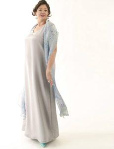 Tank Dress Silver Silk Crepe (Plus-Size)