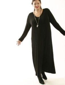 Tee Dress Black Slither (Plus-Size)