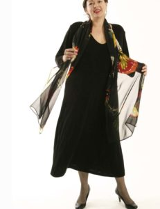 Tee Dress Black Slither (Plus-Size)