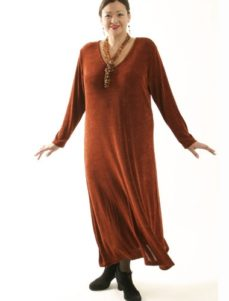 Tee Dress Copper Slither (Plus-Size)