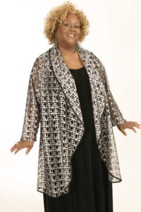 Plus Size Formal Special Occasion Evening Coat Metallic Lace Silver Sizes 14 - 28
