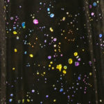 Plus Size Special Occasion Drape Coat Confetti Mesh Black Brights