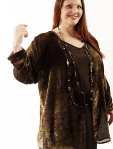 Plus Size Mother of Bride Jacket Dress Bronze Silk Velvet Burnout Sizes 22 - 32