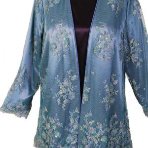 Alternative Bridal Gabi Jacket Blue Beaded French Lace / 18-24