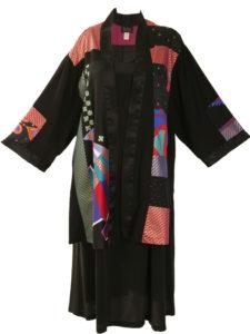 Plus Size Special Occasion Kimono Japan Cotton Red Black Gold Jade