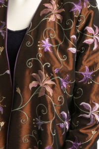 Plus Size Mother of Bride Gabi Jacket Floral Embroidery Copper Lilac
