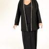 Plus Size Special Occasion Gabi Jacket Wool Diamante Black