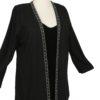 Tailored Blazer Jacket Black Wool Diamante Sizes 14 - 32