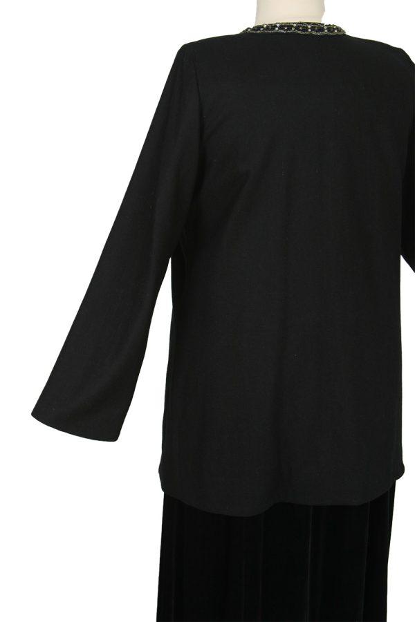 Tailored Blazer Jacket Black Wool Diamante Sizes 14 – 32
