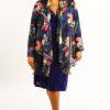 Plus Size Occasion Drape Jacket Silk Navy Pink Ivory