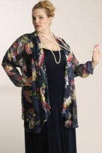 Plus Size Dressy Occasion Drape Jacket Silk Navy Pink Ivory Size 22/24