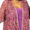 Plus Size Special Occasion Jacket Pink Sequins Lace 22/24