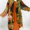 Plus Size Mother of Bride Coat Copper Persimmon Green Black Wearable Art  Size 22/24