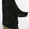 Plus Size Mother of Bride  Jacket Black Pebbles Silk Velvet Burnout Sizes 22 - 28