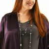 Plus Size Special Occasion Daisy Jacket Aubergine Rayon Satin