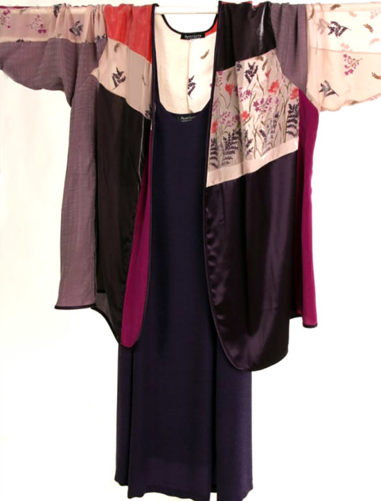 Plus Size Mother Bride Dressy Jacket Wearable Art Aubergine Pink Persimmon Size 30-32