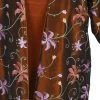 Plus Size Special Occasion Dressy Blazer Jacket Copper Floral Embroidered Taffeta