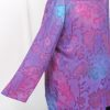 Plus Size Special Occasion Dressy Blazer Jacket Mauve Purple Teal Floral Satin Burnout Size 14/16