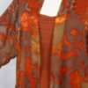 Plus Size Mother of Bride Jacket Dress Copper Taupe Persimmon Floral Burnout