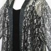Plus Size Mother of Bride Jacket Metallic Lace Silver Grey Black