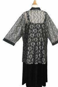 Plus Size Mother of Bride Jacket Metallic Lace Silver Grey Black