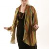 Plus Size Special Occasion Drape Jacket Naturals Stripes Silk Sizes 14 - 32