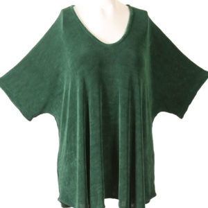 Shell Top Forest Green Slinky Sizes 22/24, 26/28, 30/32, 34/36