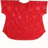 Shell Top Red on Red Fireworks Sparkle Slinky Sizes 30/32, 34/36
