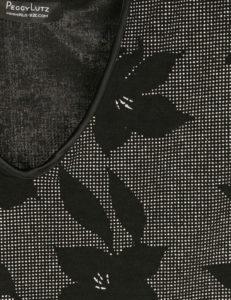Shell Top Black Silver Deco Sparkle Slinky Size 30/32
