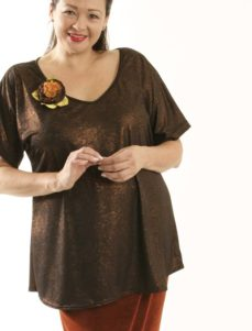 Shell Top Copper Embossed Slinky Sizes 26/28, 30/32, 34/36