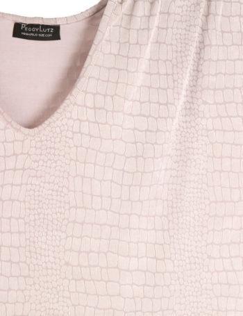 Shell Top White Embossed Aligator Slinky Sizes 30/32, 34/36