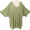 Shell Top Mint Dots Slinky Sizes 26/28, 30/32, 34/36