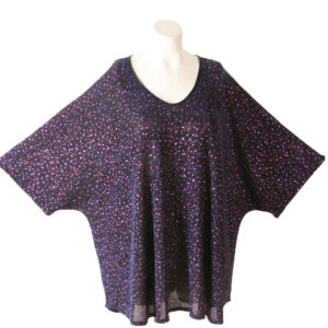 Shell Top Cerise Sparkle on Navy Slinky Sizes 26/28, 30/32, 34/36