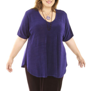 Shell Top Purple Slinky Sizes 26/28, 30/32, 34/36