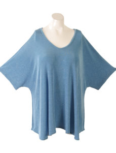 Shell Top Aqua Sparkle Slinky Sizes 26/28, 30/32, 34/36