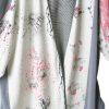 DValentine Dressy Jacket Pink Grey White Black Handpainted Artwear Size 22/24