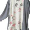 Valentine Dressy Jacket Pink Grey White Black Handpainted Artwear Size 22/24