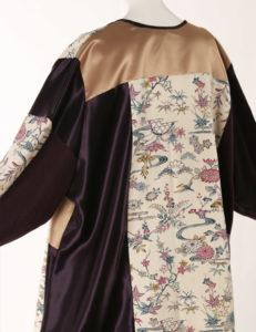 Mother of Bride Jacket Ivory Burgundy Gold Japan Print Artwear Size 22/24