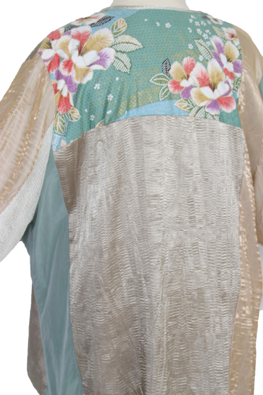 Mother Bride Dressy Jacket Artwear Champagne Sage Silver Japan Print Size  26/28