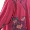 Hearts Dressy Jacket Hot Pink Teal Purple Handpainted Artwear Size 22/24